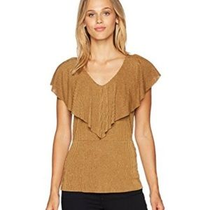 Adrianna Papell gold glitter top